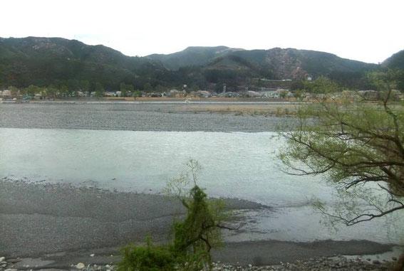 Le banc Suruga sur la Ōigawa