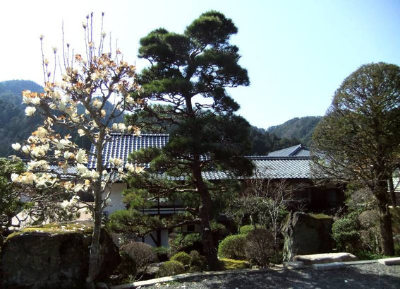 Entrée et jardins du Waki Honjin Okuya (ou Okutani