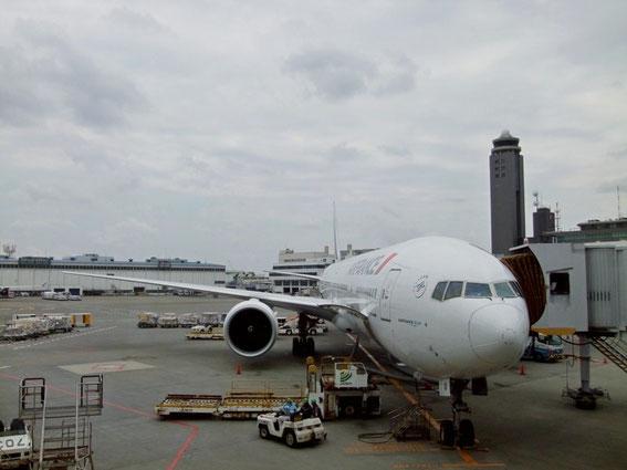 Derniers préparatifs sur notre avion (B777)