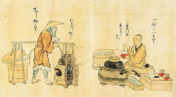 Préparation du thé et du riz