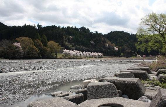 Les bords de la rivière Ōigawa à Senzu
