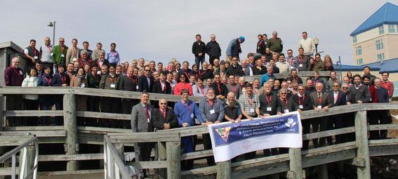 Gruppenbild: 200 Obstbauforscher aus 42 Ländern folgten der Einladung zu diesem Symposium