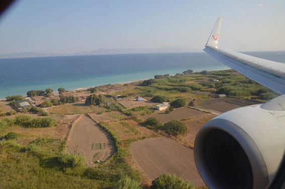 On short final  with D-ATUE again to RHO- 25.08.2015 08:50 h on time - Kalimera!