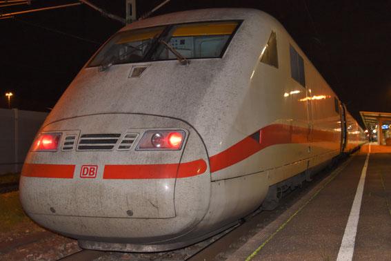 Am 14.11.16 fuhr der 77 mit Tz 81, hier in Offenburg zur Fahrt nach Zürich