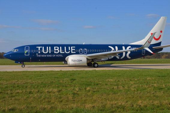 D-ATUD als Werbebotschafter der neuen TUI Hotelmarke- guten Flug an die Crew.