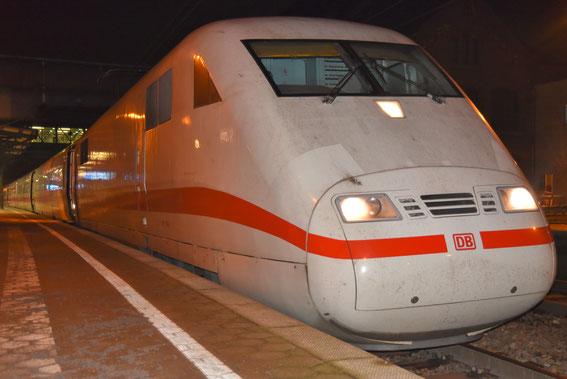 ICE 572 am 21.01.17 in Harburg mit Tz 60 Worms auf der Fahrt nach Hamburg
