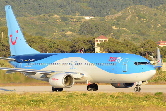 Tuifly D-ATUE, former ICE Train - Route RHO-FRA  30.04.15