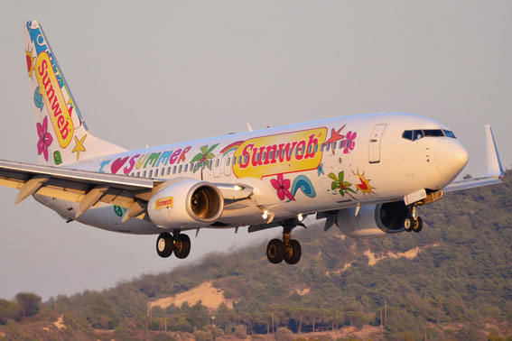 Another special one by Transavia- arrival on 30.08.15- and we love summer, too!