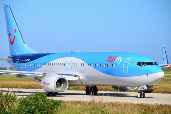 Tuifly`s newest addition to the fleet, D-ATUQ, Route RHO-BSL 30.04.15, 08:45 h- grüazi miteinand.
