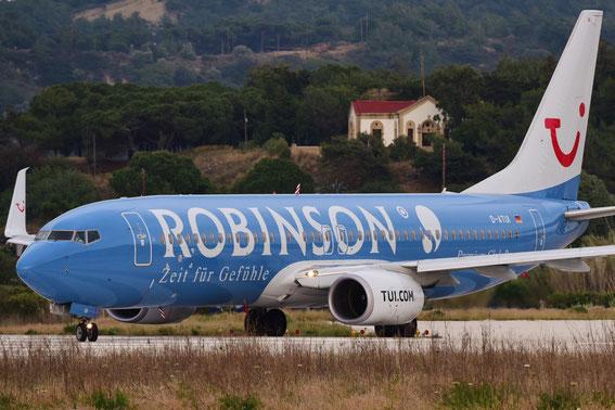 """Hier die neue D-ATUI """"Robinson"""" auf dem Weg nach Hannover; pünktlich zum Start ohne Sonne. 19.05.2016"""