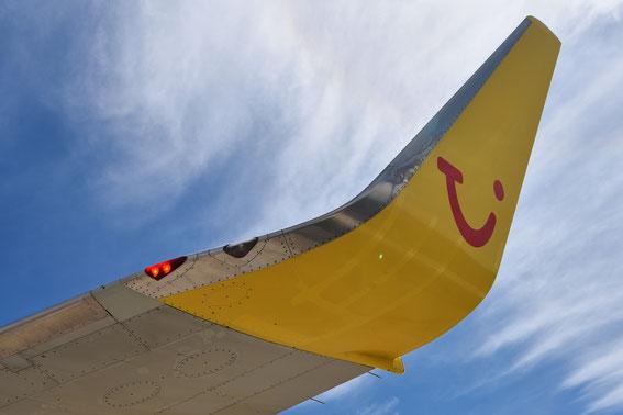 Ein Winglet der alten Serie- noch an der FT kurz vor dem Rückflug nach Basel, 11.06.16