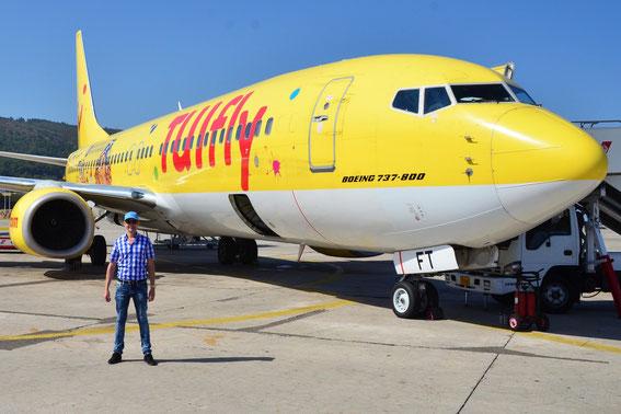 Fox Tango waiting for departure to Munich; X3 4293 01.09.2015 mit oana ehstaische Pihlott zum Flugplatz Franz Josef Strauß