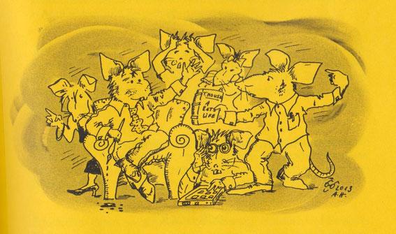 LiteRatten, Karikatur