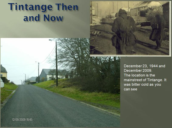 Tintange in December 1944 and 2009