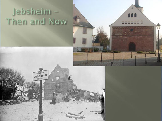 St. Martins Church in Jebsheim - Then and Now