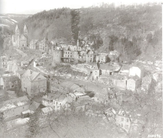 Clervaux in ruins