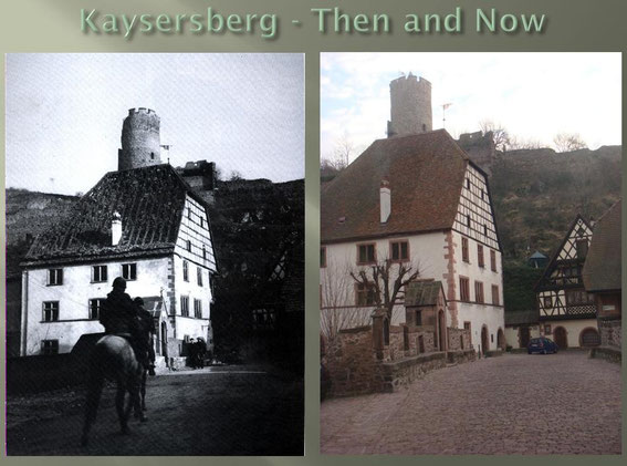 This is the bridge at the Château de Kaysersberg with an US horse rider