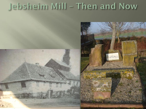 The Mill in 1940 and the remians of the Mill today. At the end of January 1945, the Germans install two 105 mm guns in front of the mill, in trenches dug by requisitioned civilians.