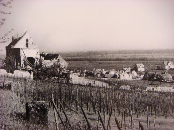 The Sigolsheim monstery after the Battle. (Photo courtesy Aimé Haubtmann and Société d'Histoire de Sigolsheim)