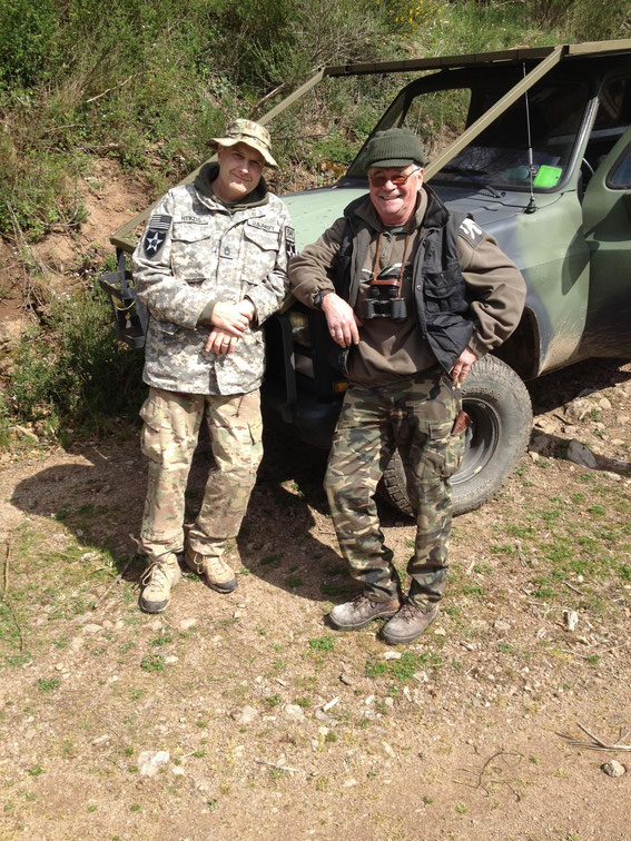 Me and my very good friend and guide Hubert (a former paratrooper in the Foreign Legion) - Hohe Schwartz April 2015