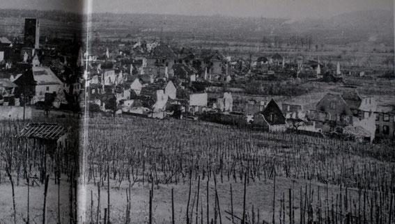 Sigolsheim after the Battle (Photo courtesy Les sociétés d'histoire d'Ammerschwihr, de Kaysersberg, de Kientzheim et de Sigolsheim)