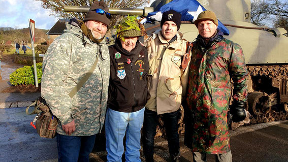 Me, US vet of the 34th Infantry Division, my friend Dani and Rob