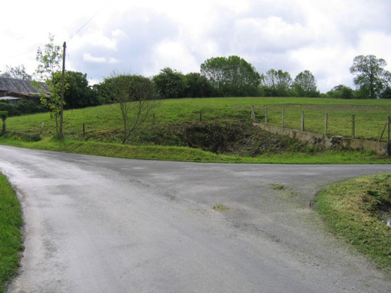 Photo shows the Kraut corner, view to Cloville.