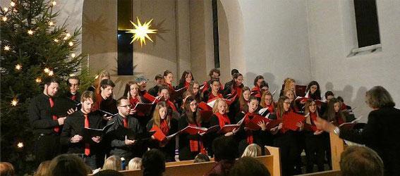 Weihnachtskonzert - Jugendchor + Projektchor Mittendrin -Leitung: Marianne Klemm -2018