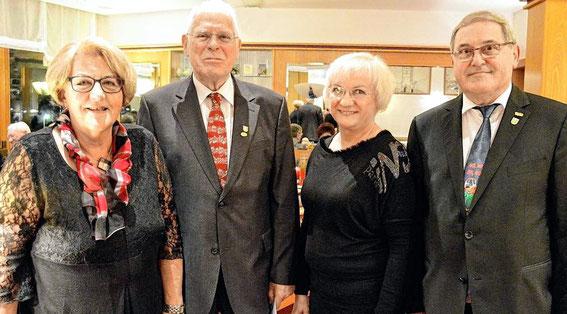 Ehrung Hans Meißner (2. von links)  60 Jahre - 2016