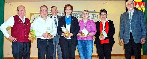 Chorleitungen beim 56. Milzgrundsingen in Irmelshausen - 2016