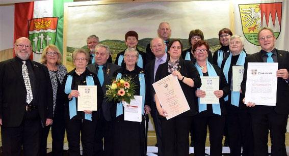 Ehrungen - Jubiläums-Ehrenabend - 100 Jahre GV 1919 Eußenhausen -16-03-2019