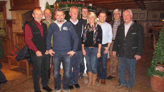 v.l. Franz Keser, Gerhard Kunze, Stephan Siegle, Hans Perzl, Johann Buchfelner, Nicole Kuhn, Jürgen Eder, Reinhard Jakob, Josef Strauß