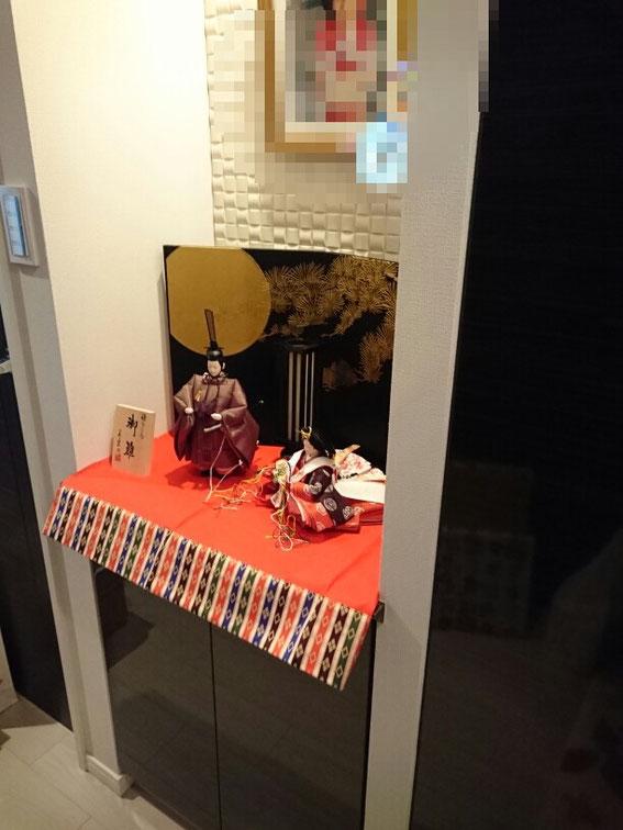 平野町 T様宅 おしゃれな現代風飾り お玄関に飾らせて頂きました