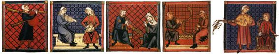 frise des enluminure des cantigas Santa Maria