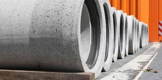 Druckprüfung für Abwasserrohre - Beton