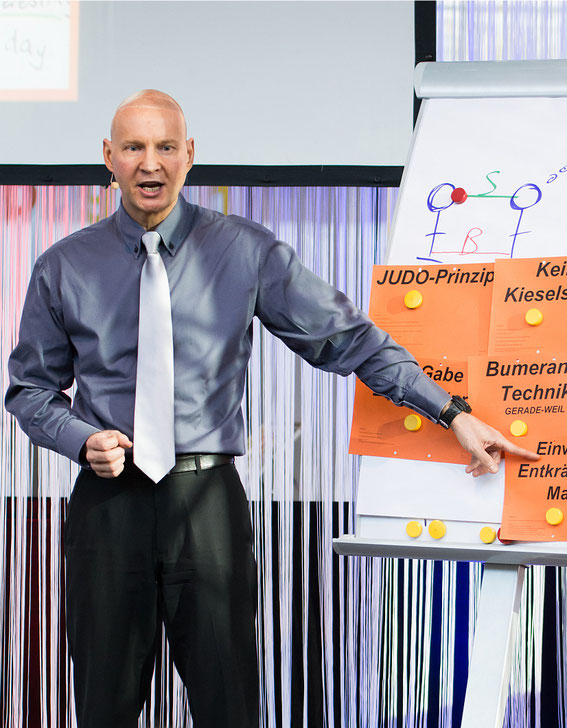 9 - Der Präsentationstrainer / Rhetoriktrainer PETER MOHR in einem Präsentationstraining / Rhetoriktraining