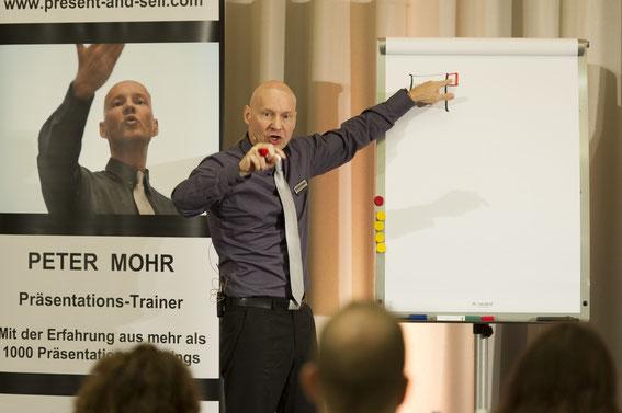 Präsentationstrainer im Präsentationsseminar
