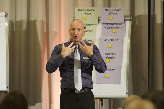 Präsentationstrainer im Präsentationstraining