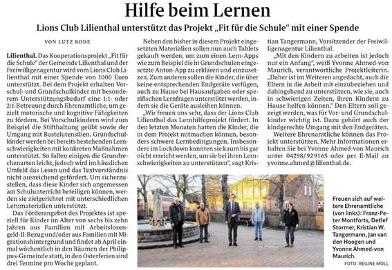 Quelle: Wümme-Zeitung vom 04.03.2021