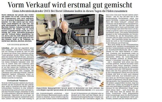 Quelle: Wümme-Zeitung vom 31.10.2013