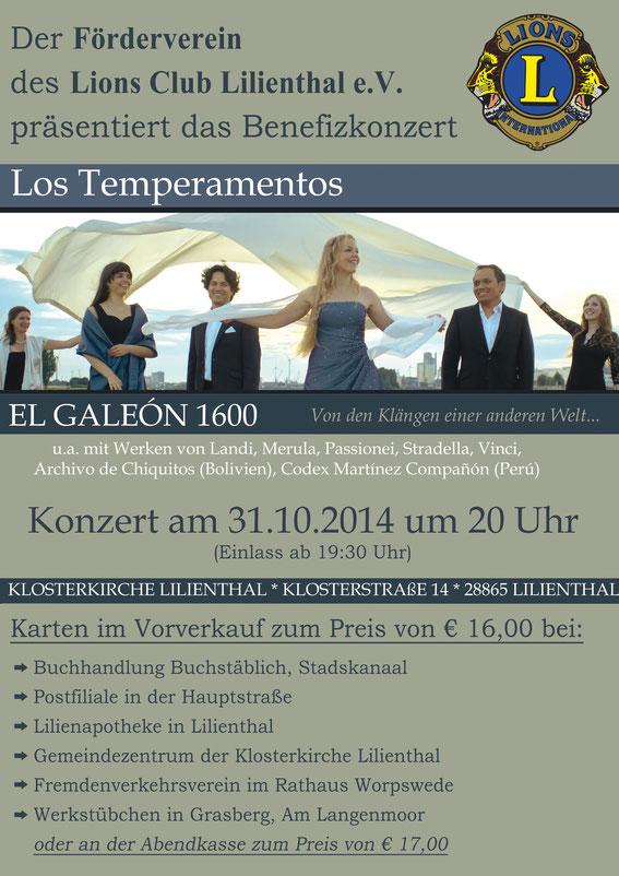 Musikalische Qualität und temperamentvolle Darstellung garantiert: Los Temperamentos.