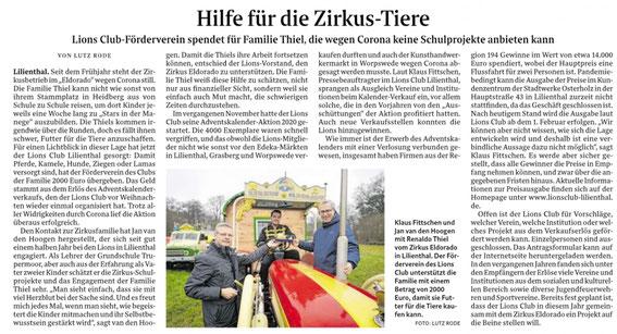 Quelle: Wümme-Zeitung vom 08.01.2021