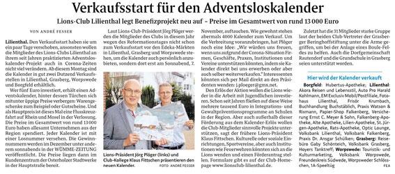 Quelle: Wümme-Zeitung vom 02.11.2020