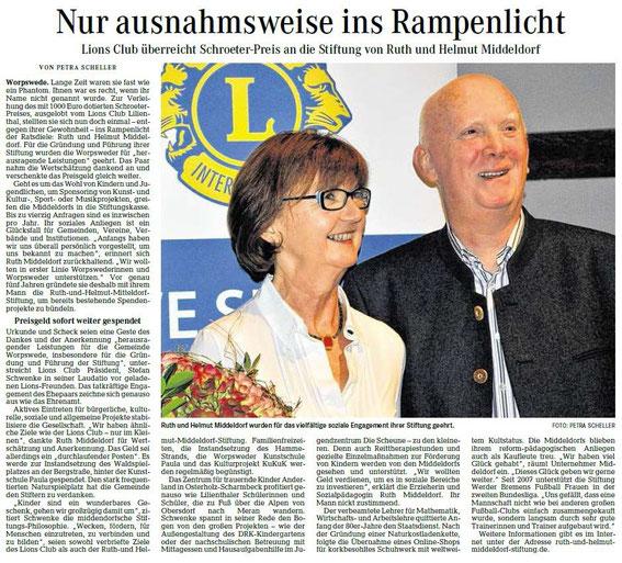Quelle: Wümme-Zeitung vom 16.11.2015
