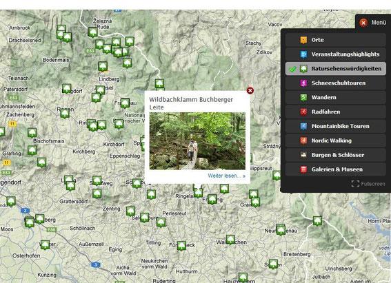 Natursehenswürdigkeiten als interessante Orte für Geocaches