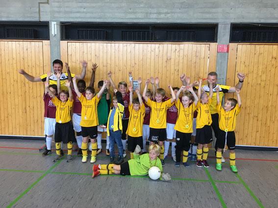 Gleich zum Auftakt der Hallensaison ein Sieg beim eigenen Turnier – die F-Jugend des SV Haslach