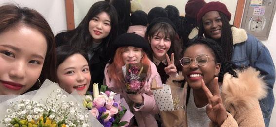 2019年2月8日、韓国芸術高校の卒業式場