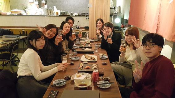 有給スタッフの会食、2016年11月22日(火)