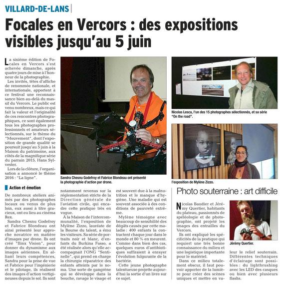 Le Dauphiné Libéré, vendredi 22 mai 2015