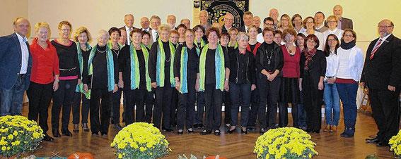 Teilnehmer Gruppenchorkonzert aus Wipfeld, Gochsheim, Gerolzhofen - 24.10.15 - in Wipfeld